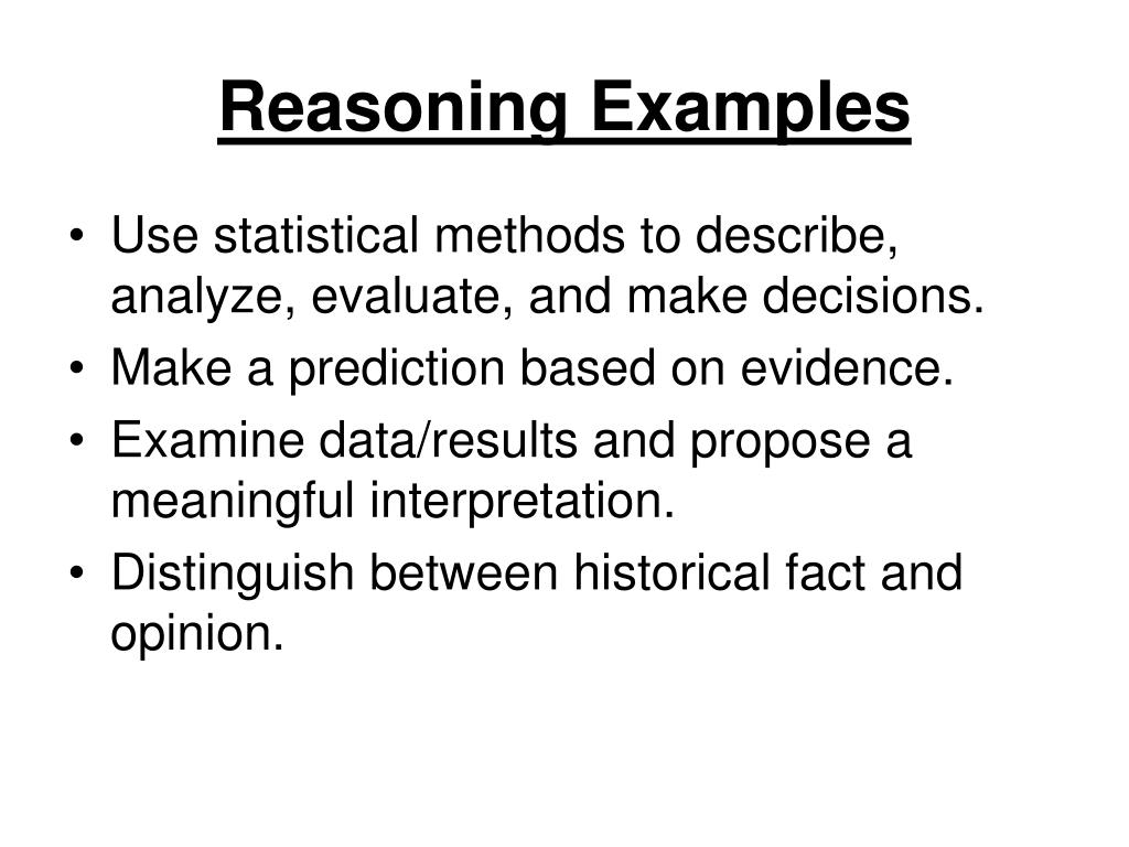Reasoning Examples