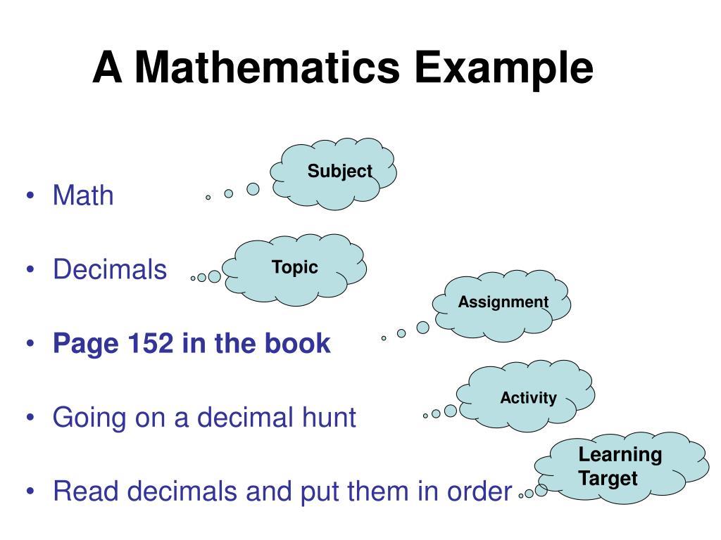 A Mathematics Example