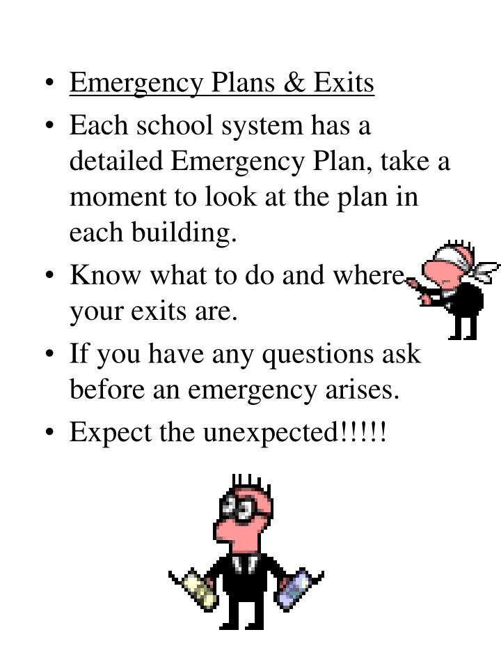 Emergency Plans & Exits