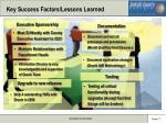 key success factors lessons learned