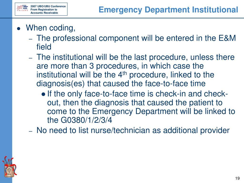 Emergency Department Institutional