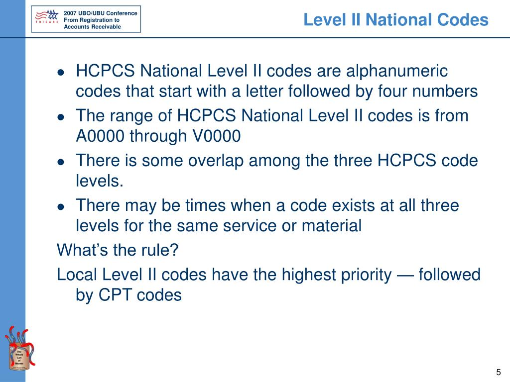 Level II National Codes