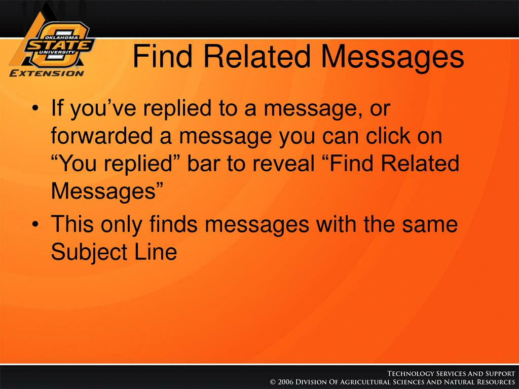 Find Related Messages