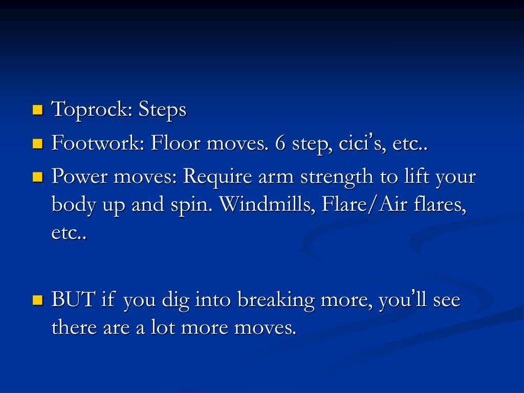 Toprock: Steps