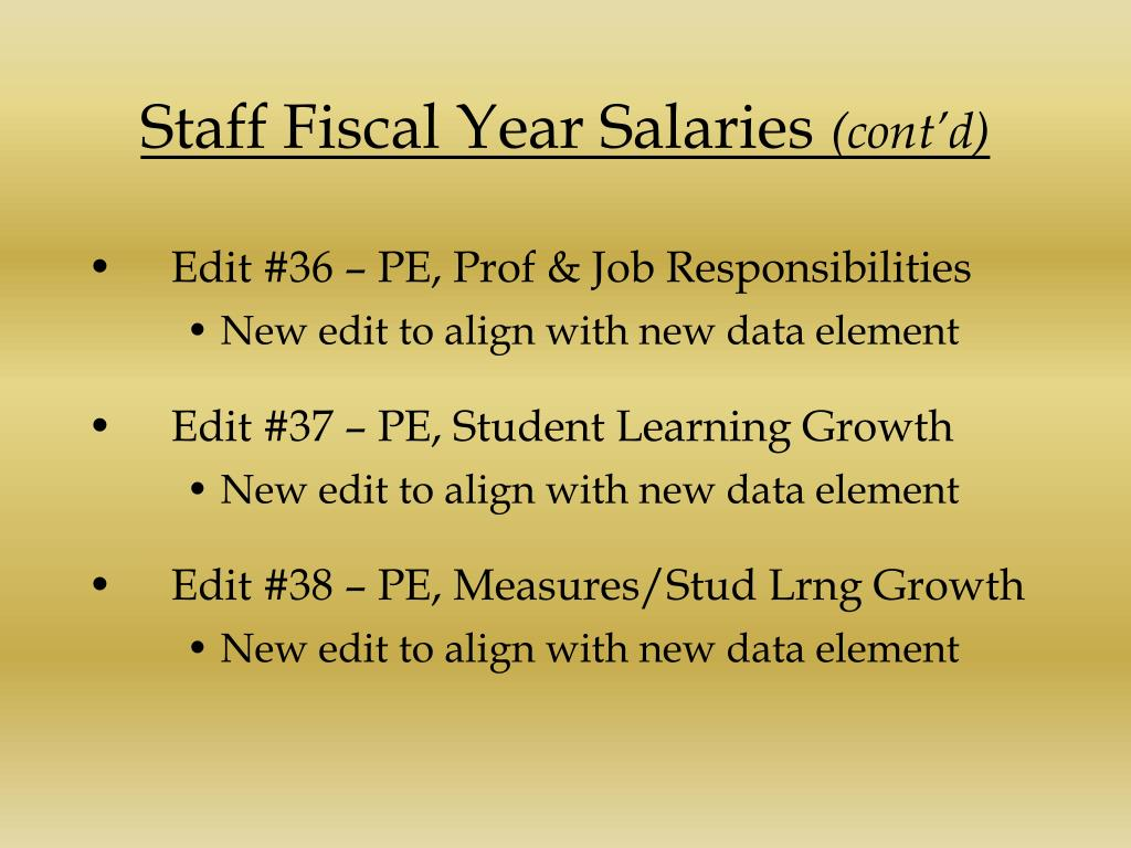 Staff Fiscal Year Salaries