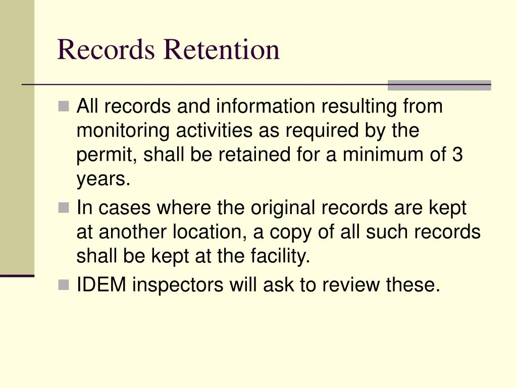 Records Retention