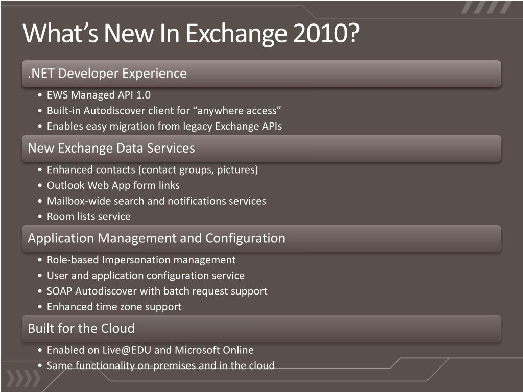 What's New In Exchange 2010?