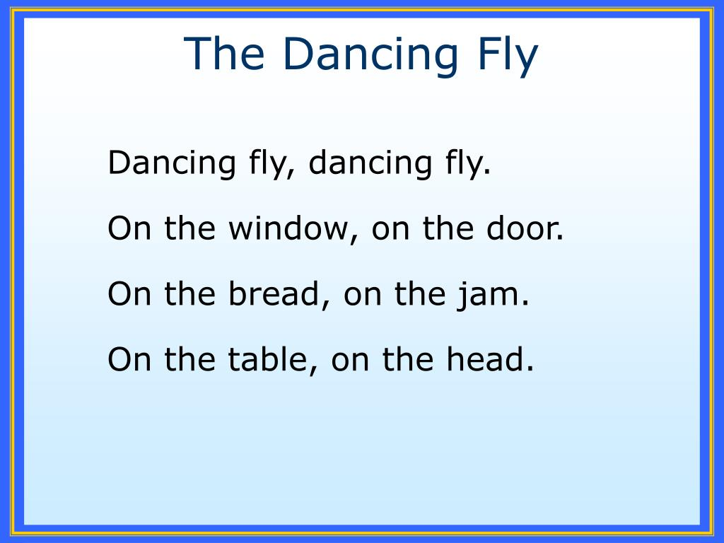 the dancing fly l.