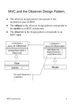 mvc and the observer design pattern