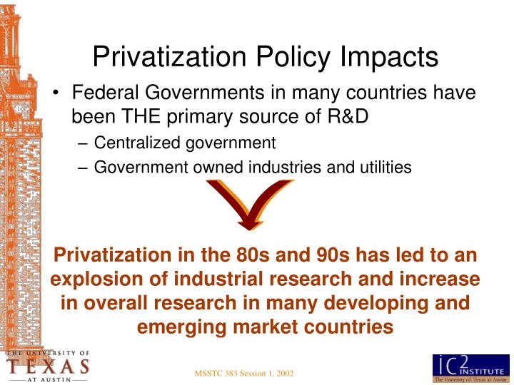 Privatization Policy Impacts