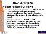 r d definitions