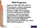 r d programs