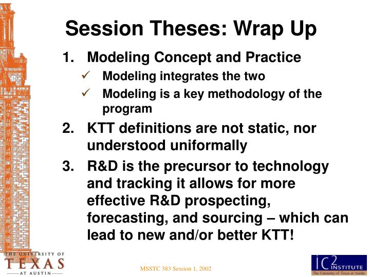 Session Theses: Wrap Up