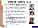 stc 383 teaching team
