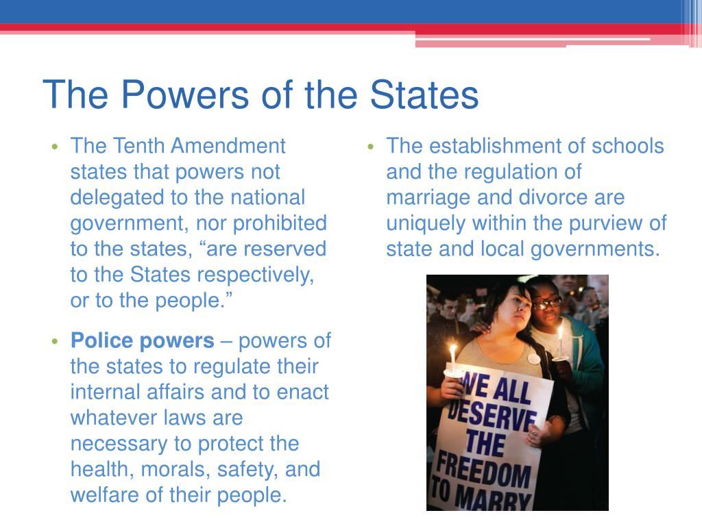 The Powers of the States