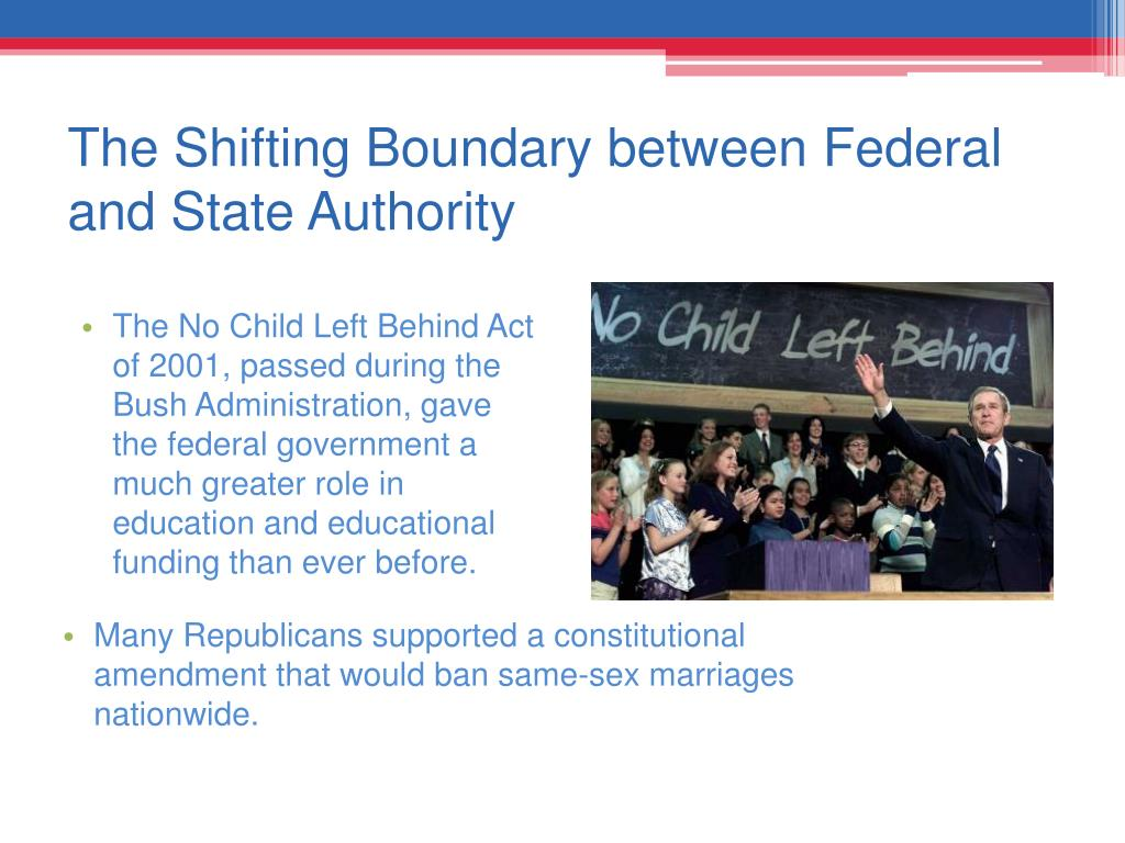 The Shifting Boundary between Federal and State Authority