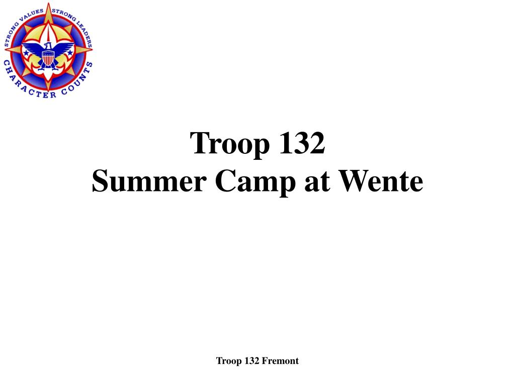 troop 132 summer camp at wente l.