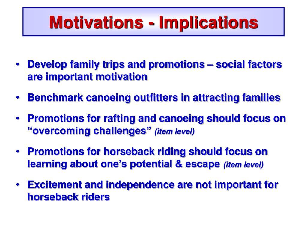 Motivations - Implications