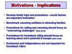 motivations implications