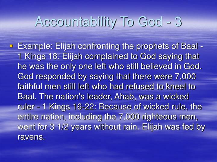Accountability To God - 3