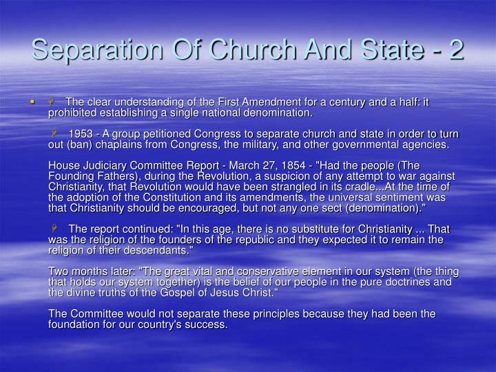 Separation Of Church And State - 2