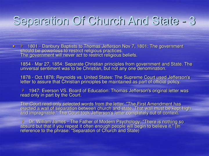 Separation Of Church And State - 3