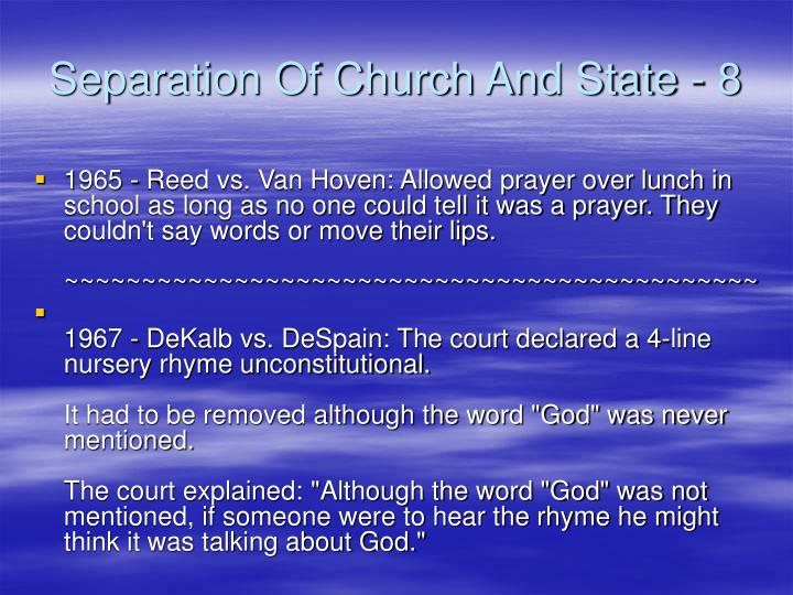 Separation Of Church And State - 8