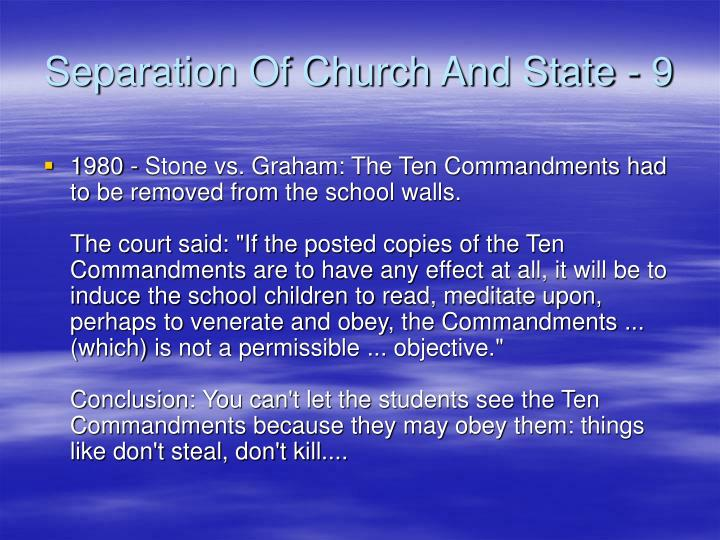 Separation Of Church And State - 9