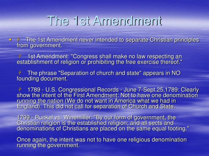 The 1st Amendment