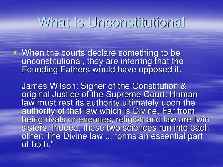 What Is Unconstitutional
