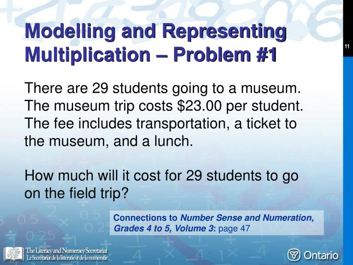 Modelling and Representing Multiplication – Problem #1