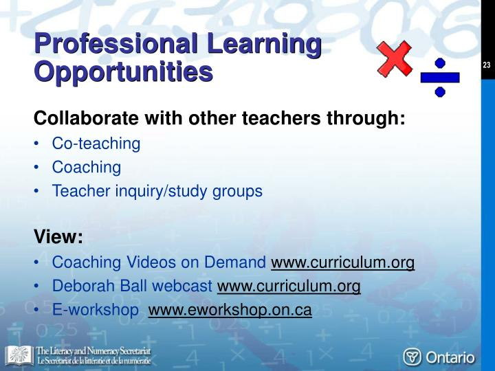 Professional Learning Opportunities