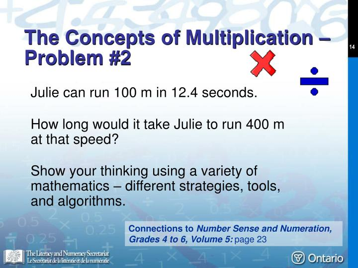 The Concepts of Multiplication – Problem #2