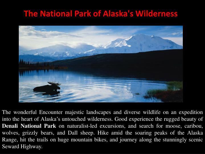 The national park of alaska s wilderness