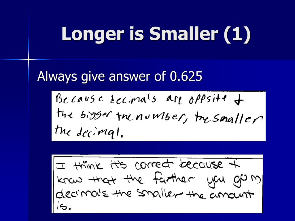Longer is Smaller (1)