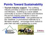 points toward sustainability14