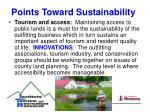 points toward sustainability16