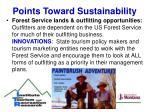 points toward sustainability17