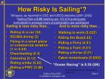 how risky is sailing