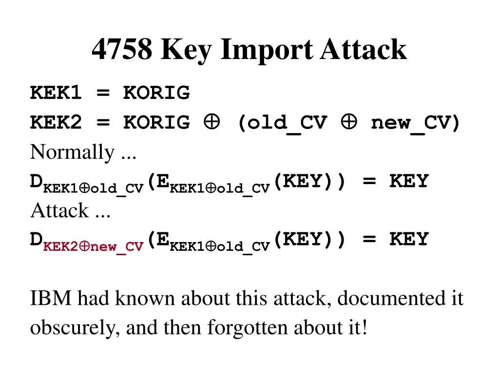 4758 Key Import Attack