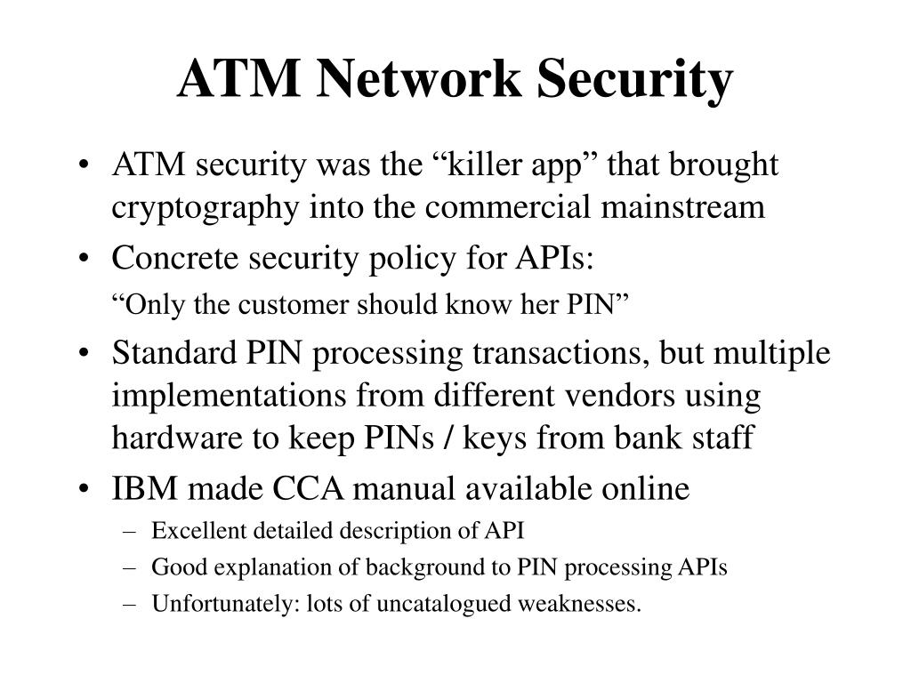 ATM Network Security
