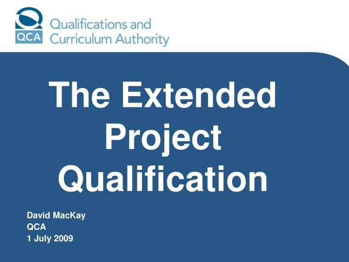 the extended project qualification n.