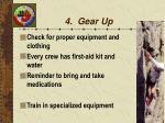 4 gear up