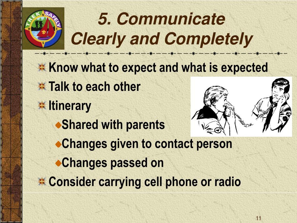 5. Communicate