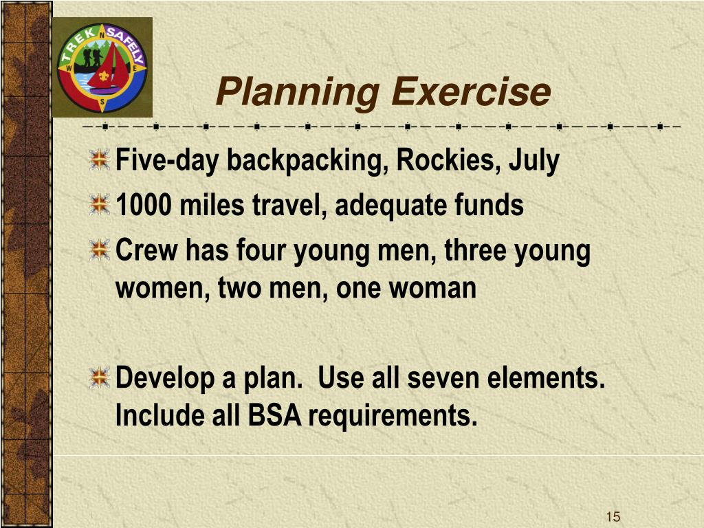 Planning Exercise