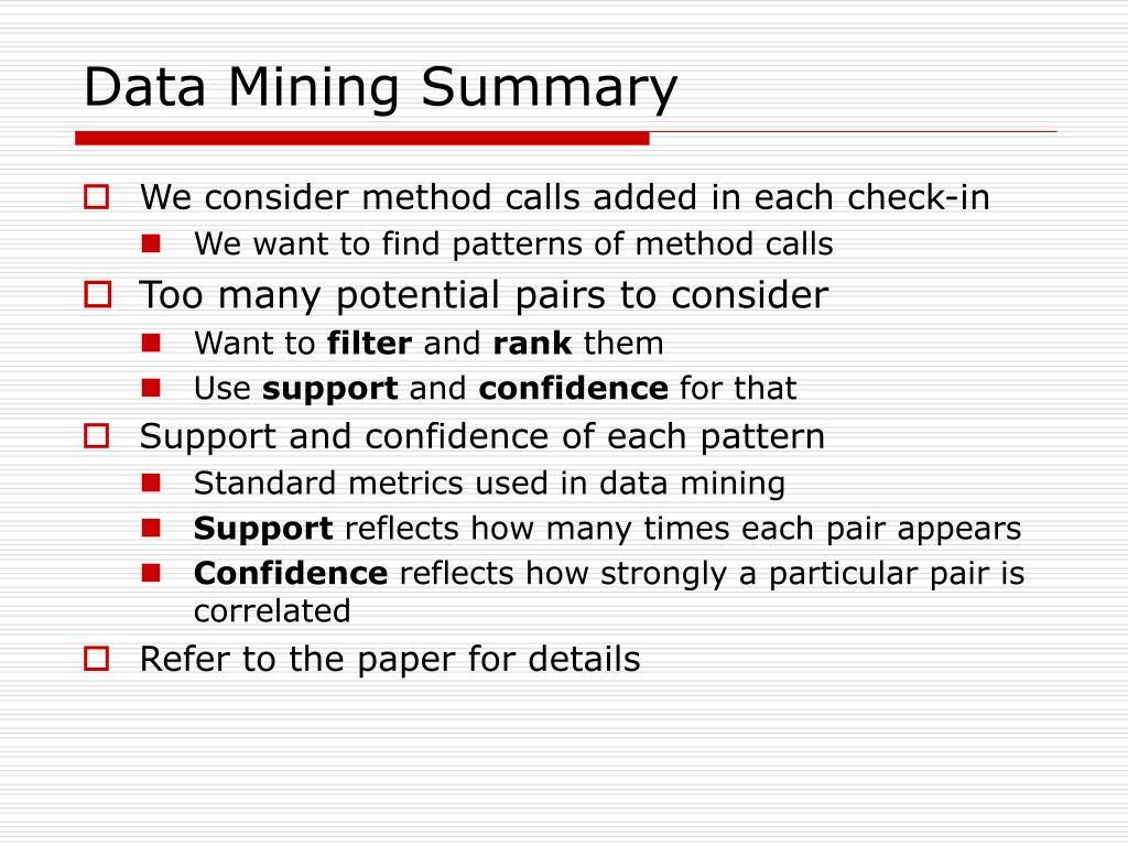 Data Mining Summary