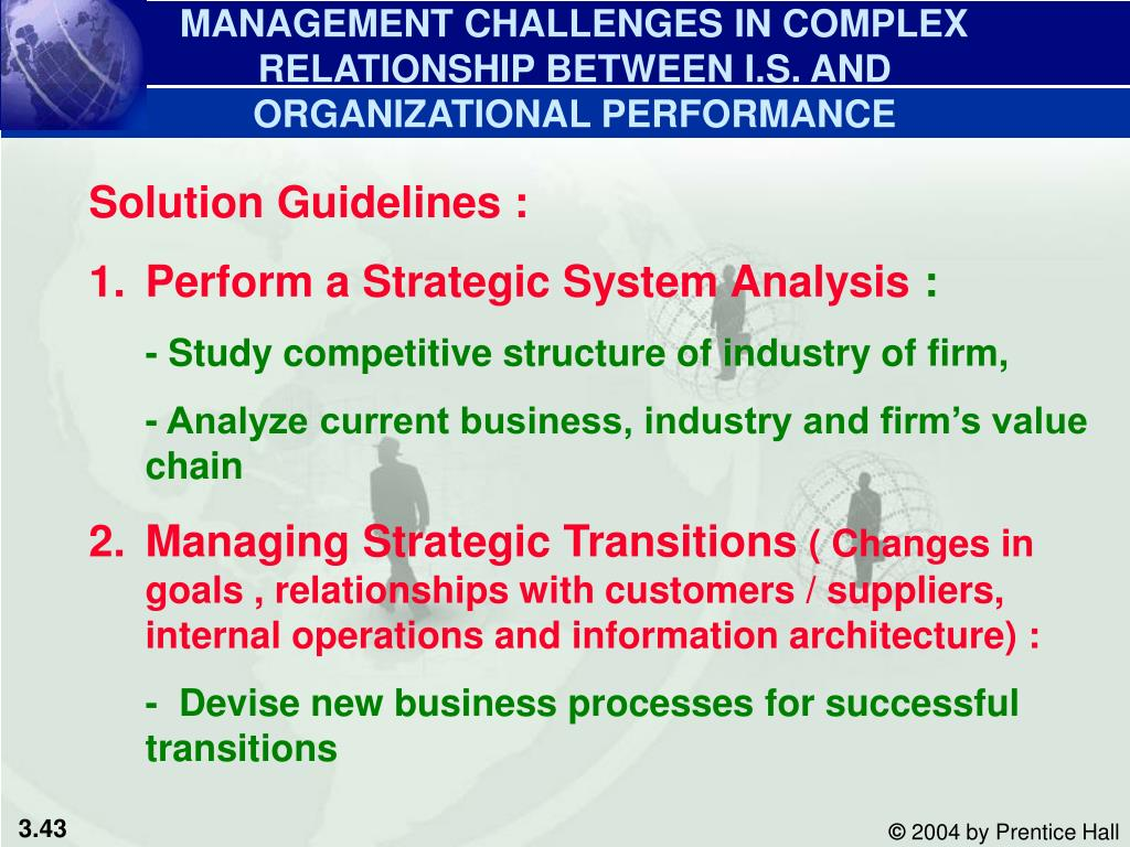 MANAGEMENT CHALLENGES IN COMPLEX RELATIONSHIP BETWEEN I.S. AND ORGANIZATIONAL PERFORMANCE