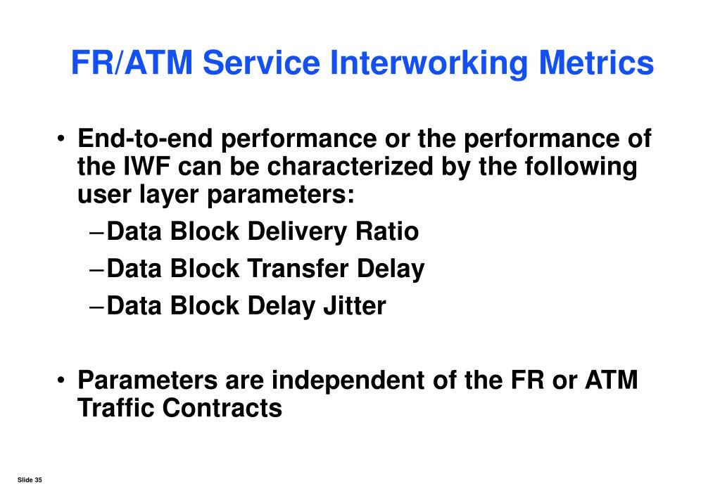 FR/ATM Service Interworking Metrics