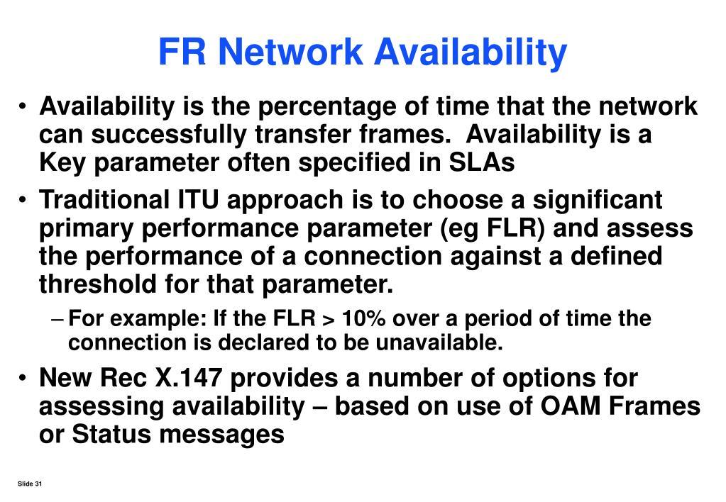 FR Network Availability