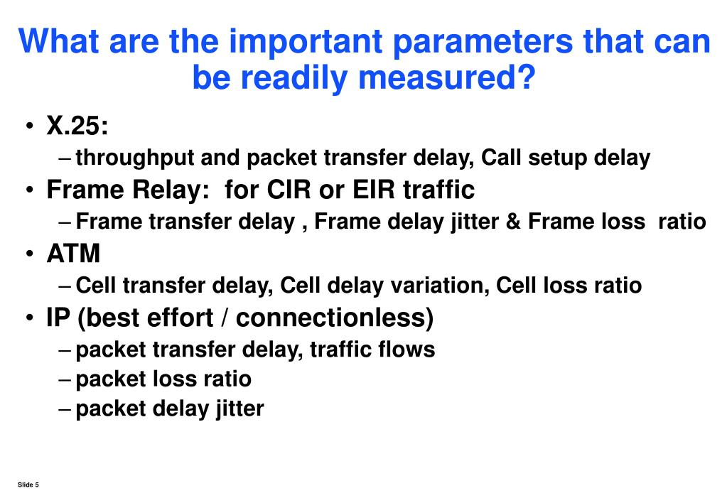 What are the important parameters that can be readily measured?